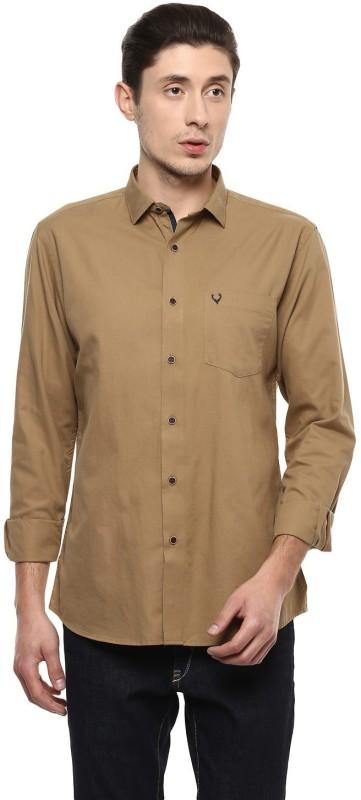 Allen Solly Men Solid Casual Beige Shirt