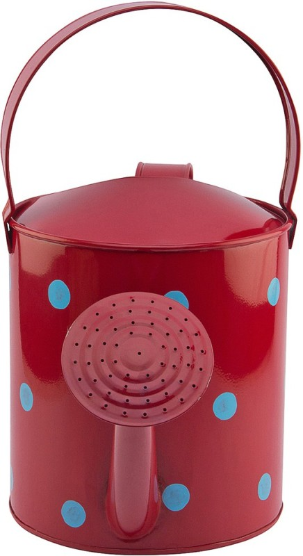 NUHA Polka Dots Watering Can 5 L Water Cane(Red, Pack of 1)