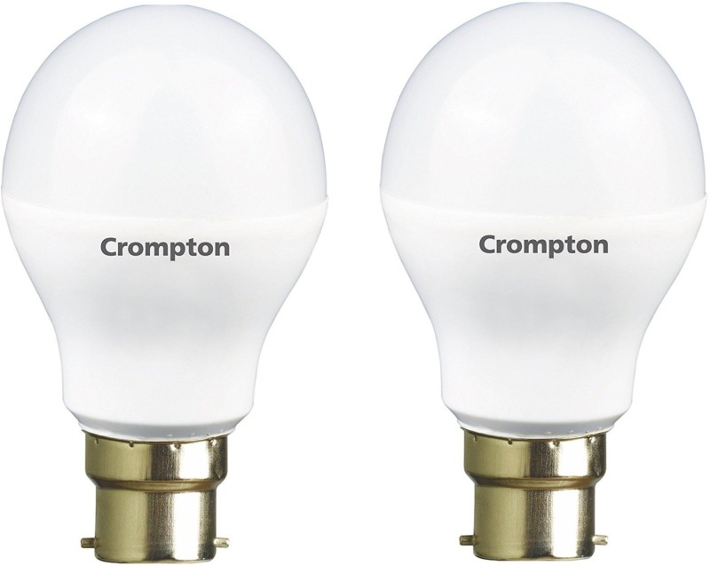 Crompton 5 W Standard B22 LED Bulb(Yellow, Pack of 2)