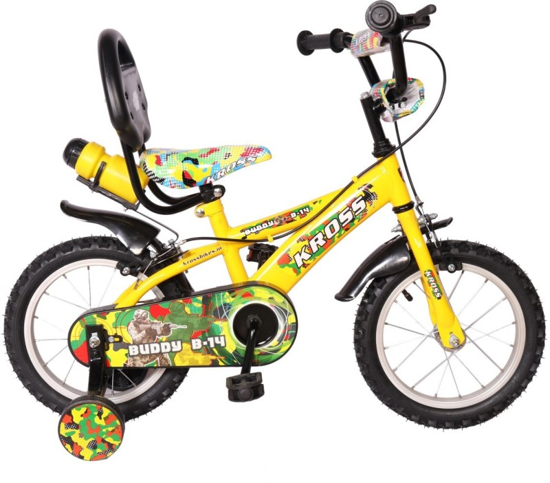 Kross Buddy B-14 Sporty Bike For Kids Age Of 4-6yrs Yellow 14 T Recreation Cycle(Single Speed, Yellow)