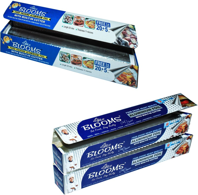 Blooms Pack of 3 (25+9+9)M Aluminium Foil(Pack of 3, 43 m)