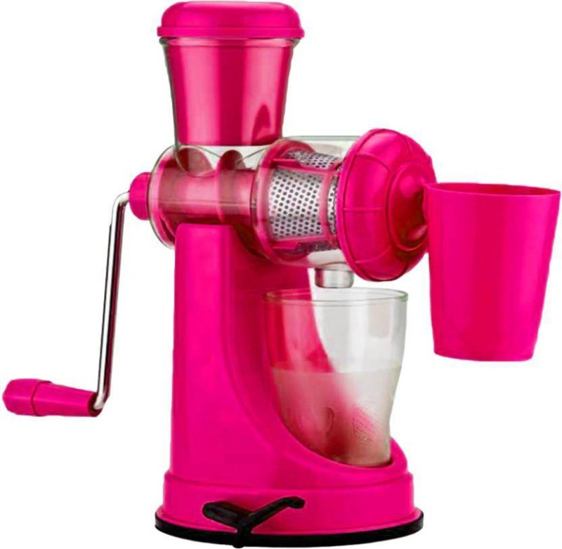 Shy Products Stylish Super Quality Fruit And Vegetable Plastic, Steel Hand Juicer(Multicolor Pack of 1)