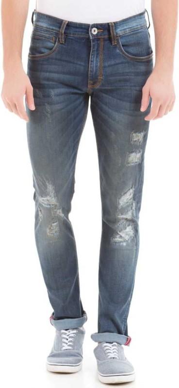 Izod Slim Men Dark Blue Jeans