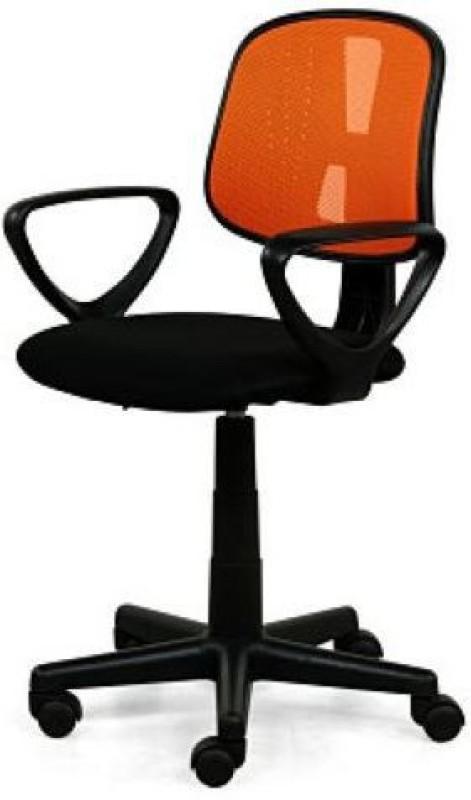 RoyalOak Amber Fabric Office Arm Chair(Orange)