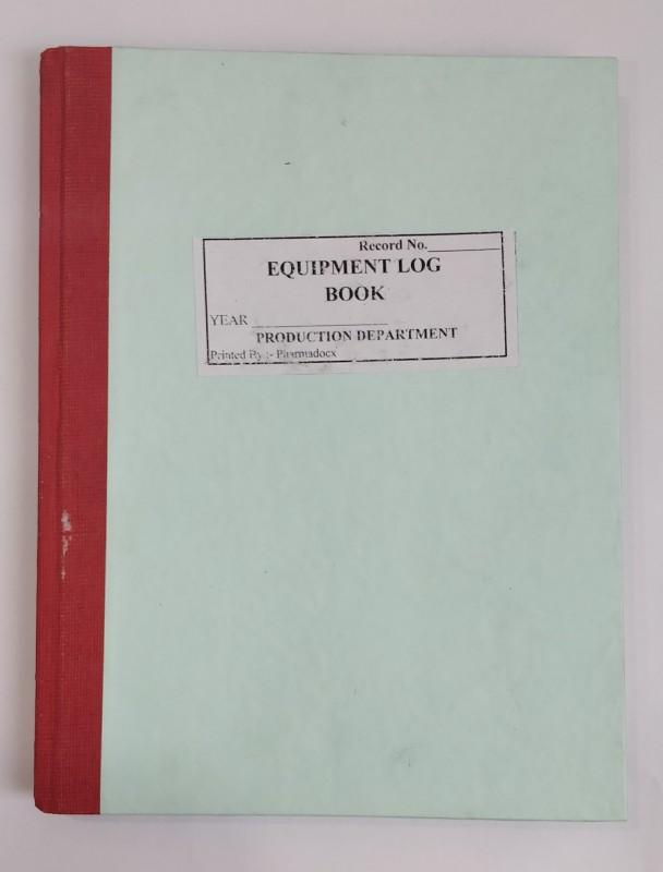 Pharmadocx Equipment Log Book 1 1-Part Equipment Log Book(25 Sets)