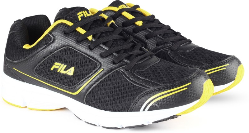Fila RUN FAST PLUS 4 Running Shoes For Men(Black, Yellow)