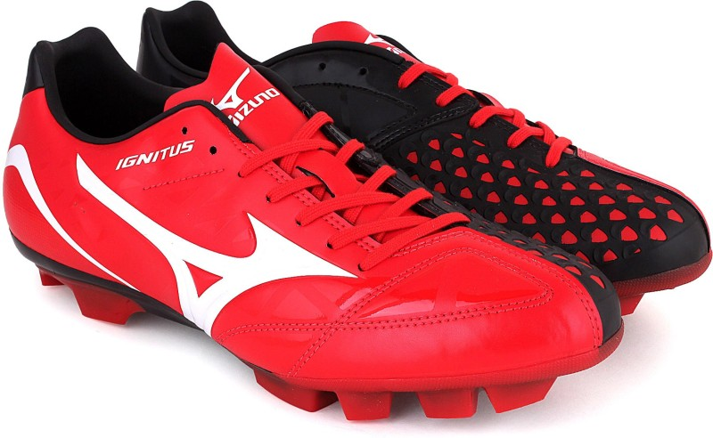 Mizuno IGNITUS 4 MD Football Shoes For Men(Red, White)