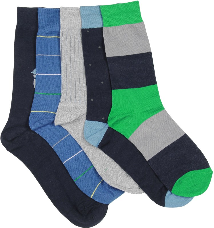 Arrow Mens Self Design Crew Length Socks(Pack of 5)