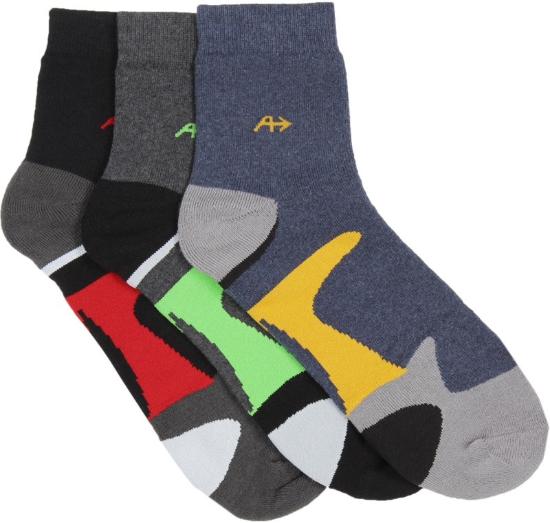 Arrow Mens Self Design Ankle Length Socks(Pack of 3)