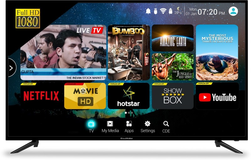 CLOUDWALKER CLOUD TV 50SF 50 Inches Full HD LED TV