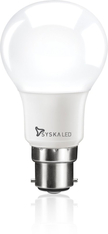Syska Led Lights 7 W Standard B22 LED Bulb(White)