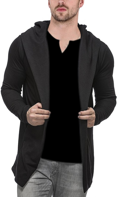 Veirdo Men's No Closure Solid Cardigan