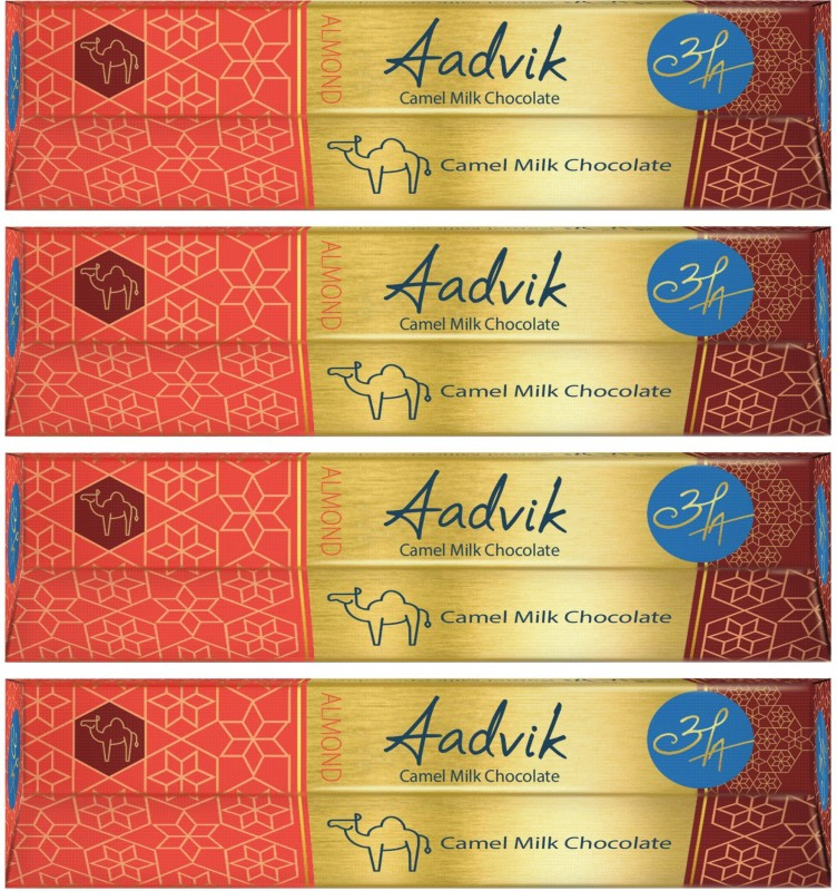 Aadvik Camel Milk Chocoate Bars(Pack of 4, 112 g)