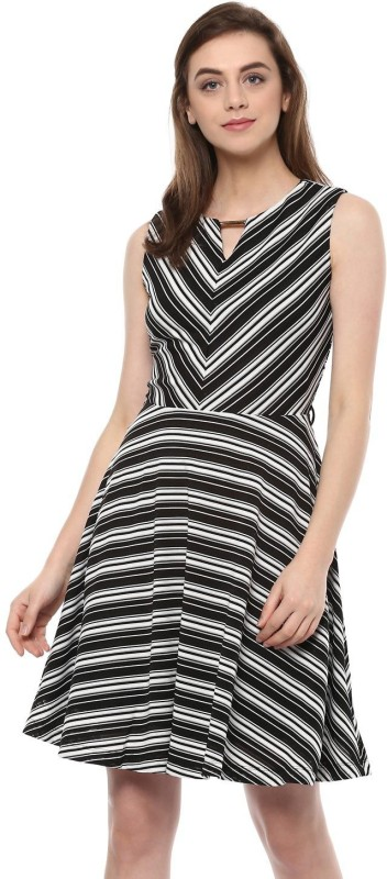 Allen Solly Women A-line Black Dress
