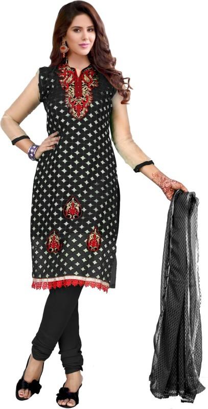 Trendz Style Net Embroidered Salwar Suit Dupatta Material(Un-stitched)