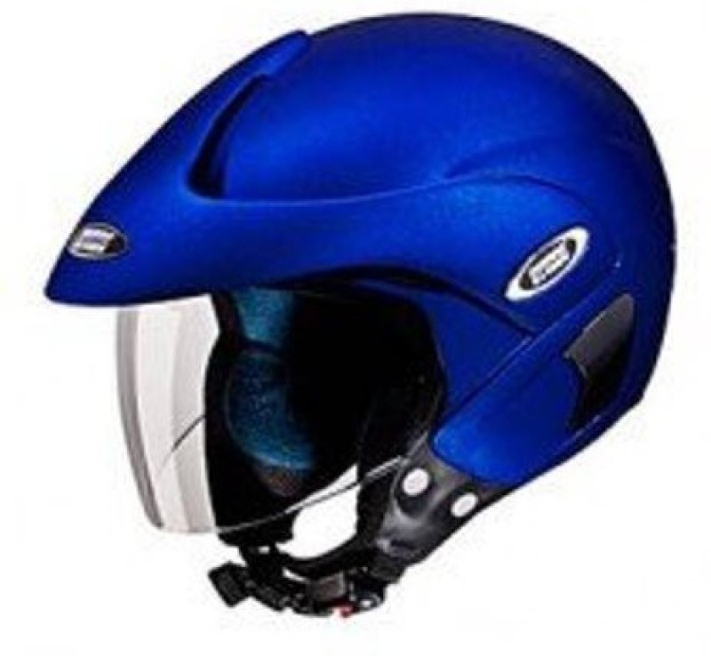 Studds Marshall Half Helmet (Matt Blue, L) Motorbike Helmet(Blue)