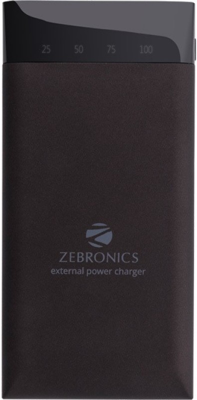 Zebronics 15000 mAh Power Bank (MC15000PD, MC15000PD)(Black, Lithium Polymer)