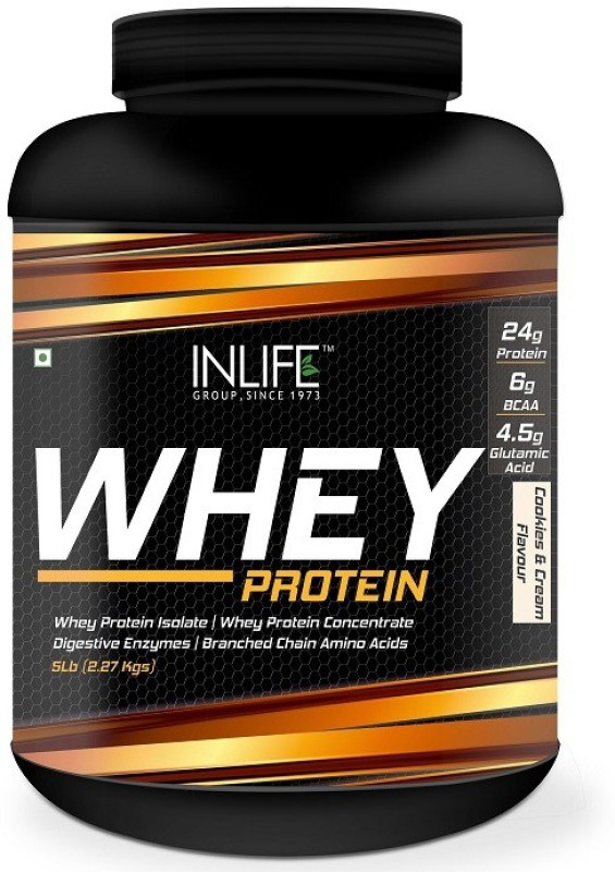 Inlife 5Lb Whey Protein(2.27 kg, Cookies)