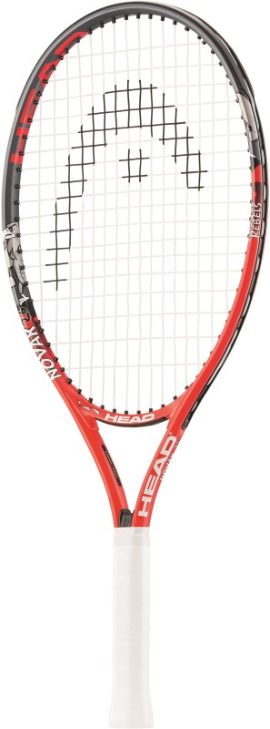 Head Novak 23 Multicolor Strung Tennis Racquet(G3 - 4 3/8 Inches, 190 g)