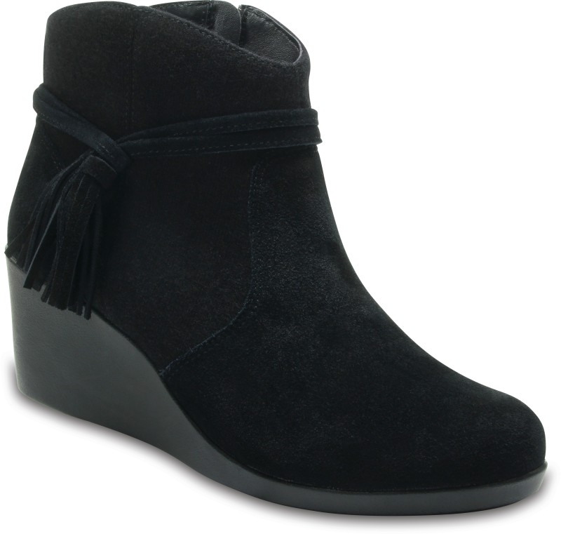 Crocs Crocs Leigh Suede Mix Bootie W Boots For Women(Black)
