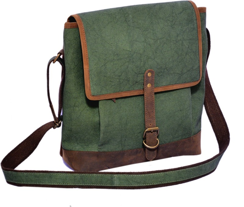 Craft Play Canvas Laptop Bag/Travel Bag Small Travel Bag(Green)