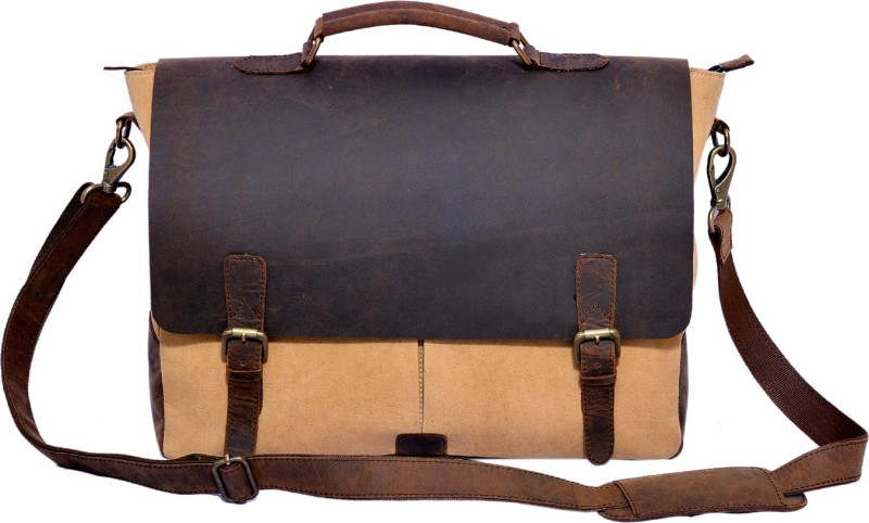 Craft Play Canvas Laptop Bag/Travel Bag Small Travel Bag(Brown)