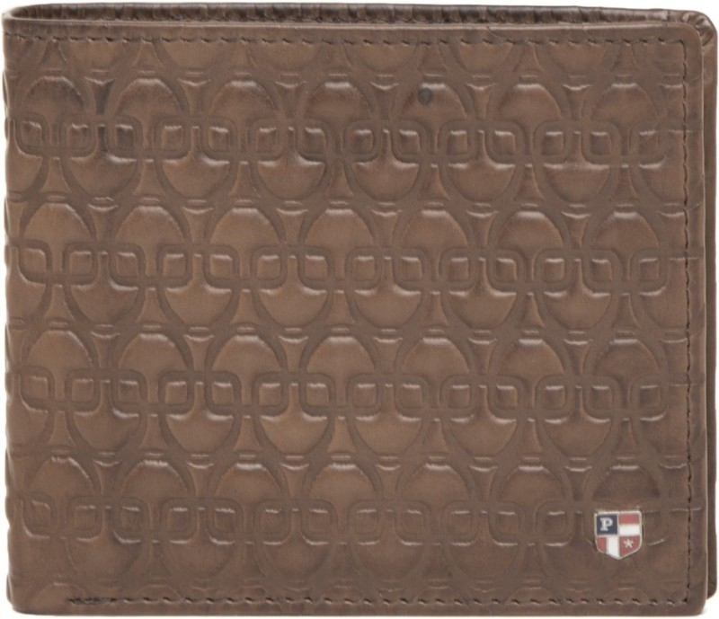 U.S. Polo Assn Men Brown Genuine Leather Wallet(4 Card Slots)
