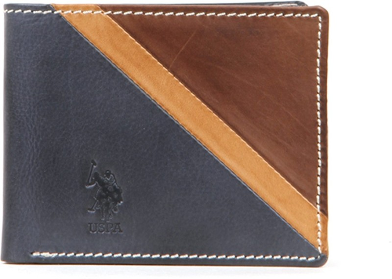 U.S. Polo Assn Men Multicolor Genuine Leather Wallet(8 Card Slots)