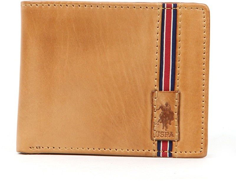U.S. Polo Assn Men Brown Genuine Leather Wallet(8 Card Slots)