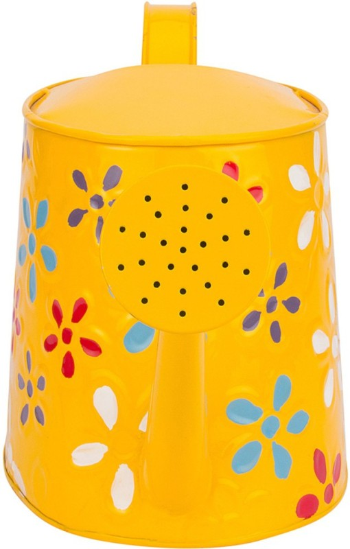 NUHA Hand Painted Watering can 2.5 L Water Cane(Yellow, Pack of 1)