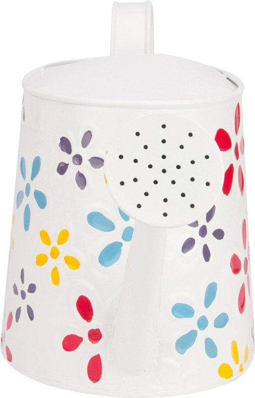 NUHA Hand Painted Watering can 2.5 L Water Cane(White, Pack of 1)