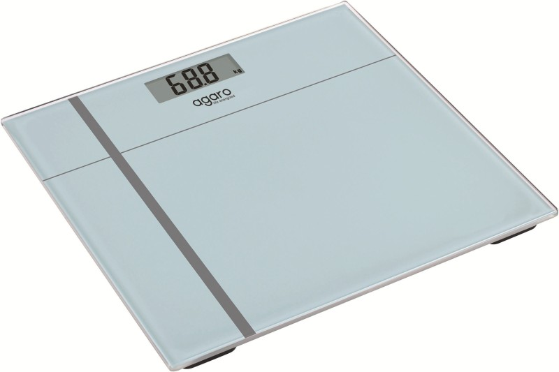 Agaro Glass Top Electronic Personal Scale WS503W Weighing Scale(Grey)