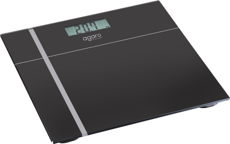 Agaro Glass Top Electronic Personal Scale_WS503B Weighing Scale(Black)