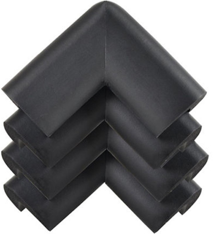 babycorner 8 Pcs Child Safety Corner Guards for Furniture, Dining Table, Side Table, Bed Corners (Black Colour) 8 Pieces (Black)