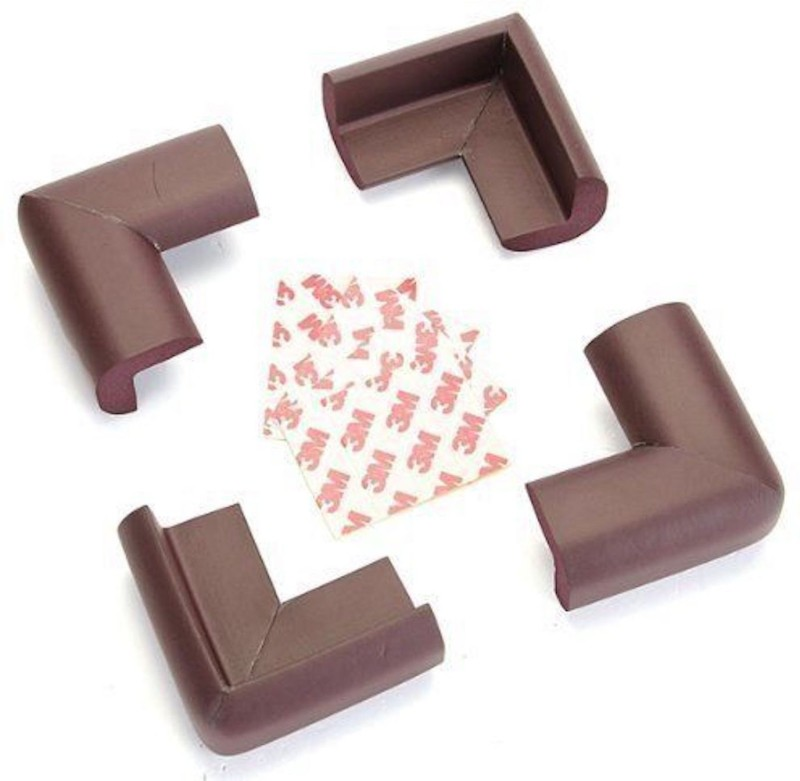babycorner 8 Pcs Child Safety Corner Guards for Furniture, Dining Table, Side Table, Bed Corners (Brown Colour) 8 Pieces (Brown)