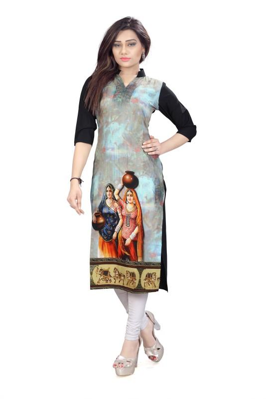 Glance Designs Festive & Party Printed Women's Kurti(Multicolor)