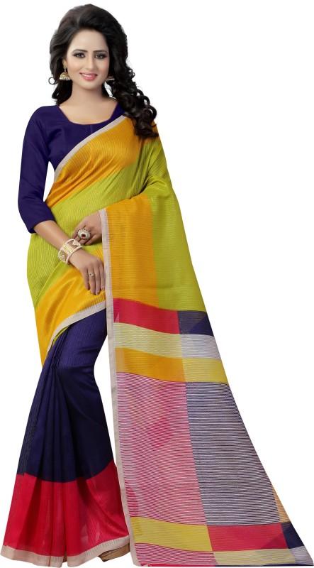 Yashika Printed Daily Wear Art Silk Saree(Multicolor)