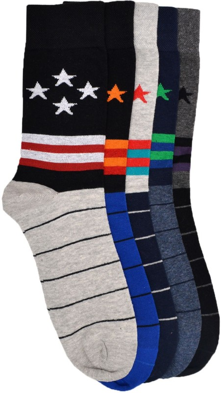 VINENZIA Mens Crew Length Socks(Pack of 5)
