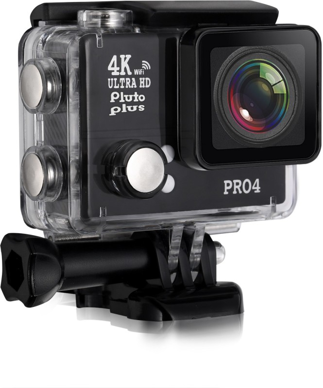Pluto Plus 4K Ultra HD Video Waterproof Sports Action Camera Action Camera Pro 4 Sports and Action Camera(Black 20 MP)