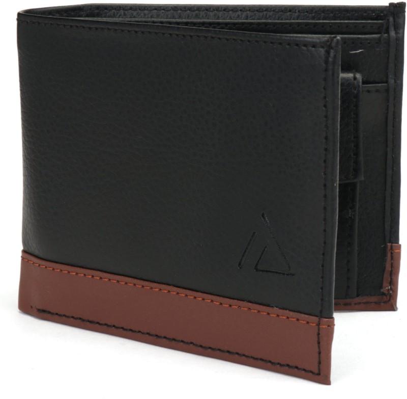 Holboro Men Black Genuine Leather Wallet(3 Card Slots)