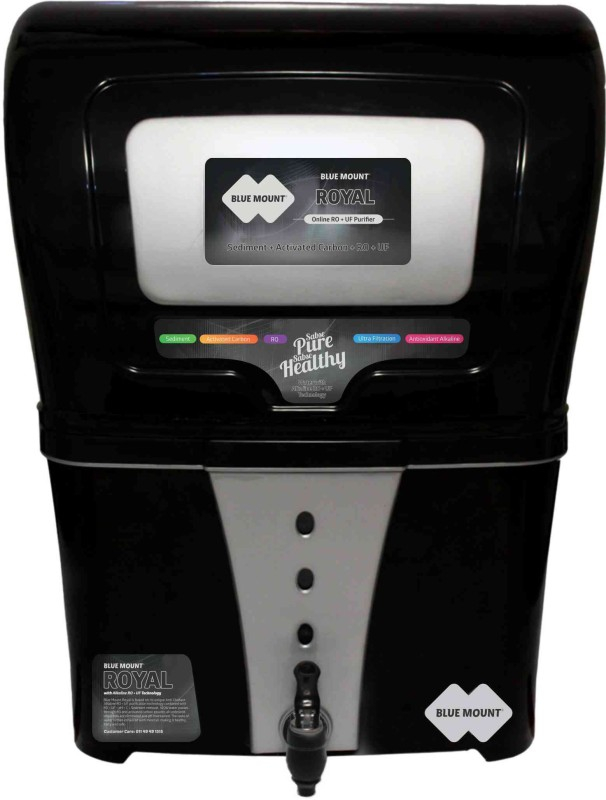 Blue Mount Royal BA57 12 L RO + UF Water Purifier(Black)