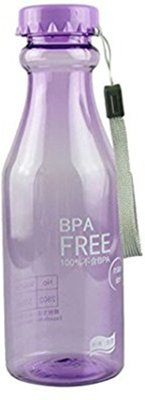 Skywalk Bpa-free Purple color Water Bottle With Hand Strap Lanyard For Sports Sporting With Cap Small Perfect For Adult And Kids Children School 650ml 650 ml Bottle(Pack of 1, Purple)