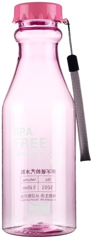 Skywalk Bpa-free Pink Color Water Bottle With Hand Strap Lanyard For Sports Sporting With Cap Small Perfect For Adult And Kids Children School 650ml (PACK of 1) 650 ml Bottle(Pack of 1, Pink)
