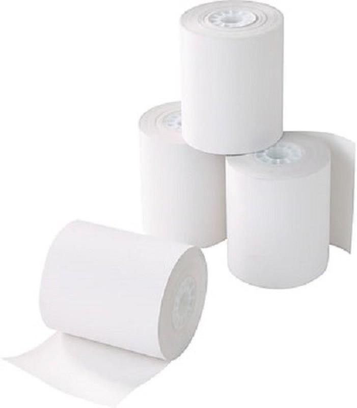 mm enterprises 80mmx50mtr.(3inch) pos machine roll set of 10 Rolls Thermal Cash Register Paper(8 cm x 12 cm)