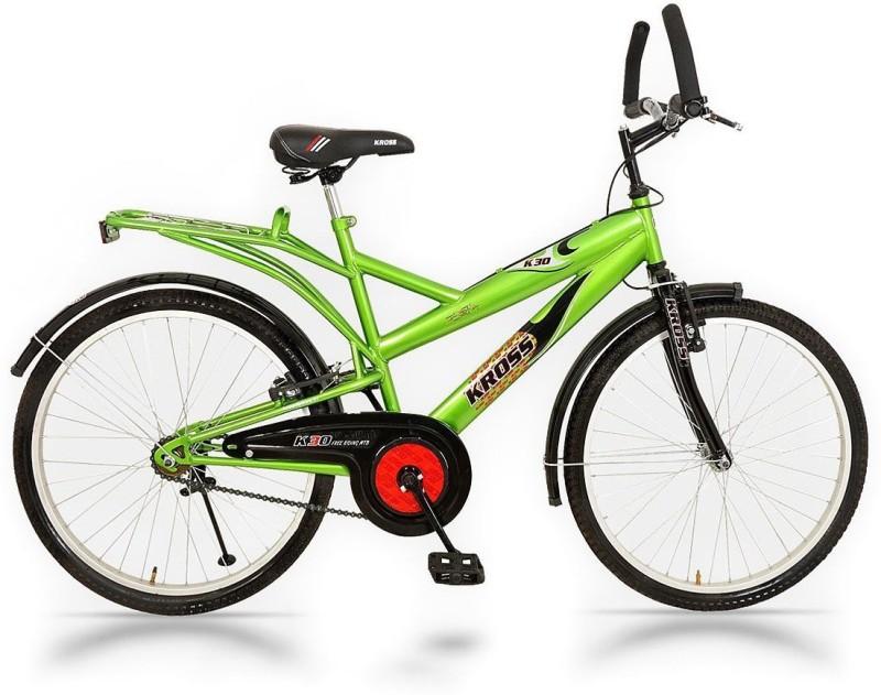 Kross K-30 26T Single Speed Bicycle (Green) 26 T Single Speed Mountain Cycle(Green, Black)