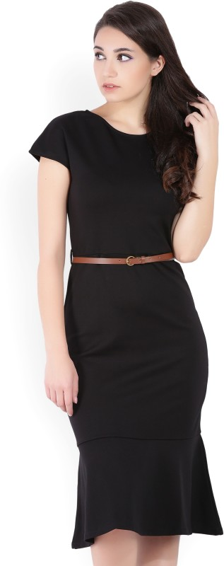 United Colors of Benetton Womens Sheath Black Dress