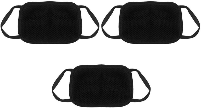 LDHSATI Anti Pollution White Carbon Activated Cotton Half Face Adjustable Particulate Mask for Sun, Dust & Allergy Protection Foldable Face Mask Branded Set Of 3 Pieces Dust/Anti Pollution Protective Face Mask Mouth & Nose Respirator Outdoor Elevation Tra