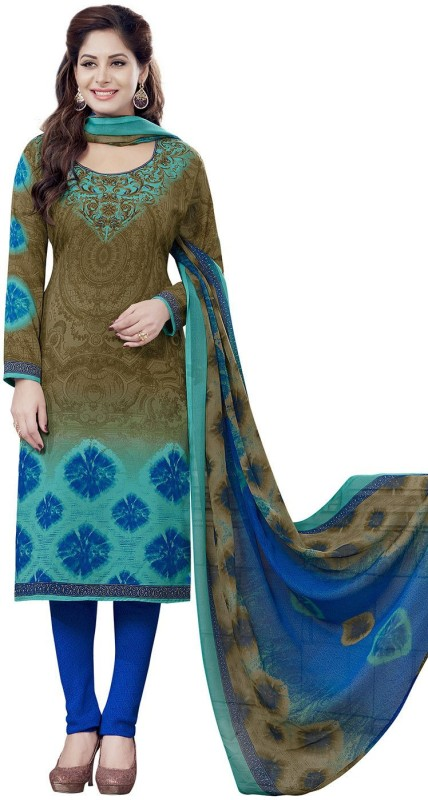 Jevi Prints Crepe Printed Salwar Suit Dupatta Material(Un-stitched)