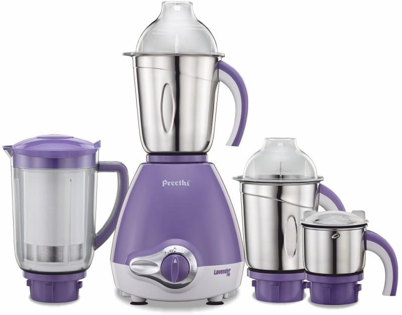 Preethi Lavender Pro MG 185 600 W Mixer Grinder(4 Jars)