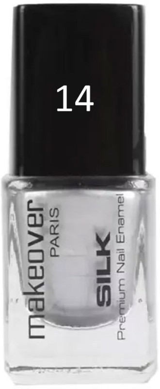 Makeover Professional Nail Paint Hot Silk Silver-14 Hot Silk Silver-14(9 ml)